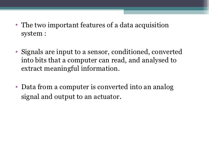Civil Data Acquisition System : Data acquisition system and loggers