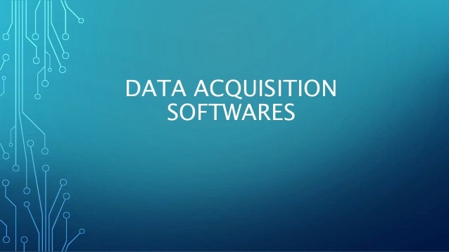 DATA ACQUISITION SOFTWARES