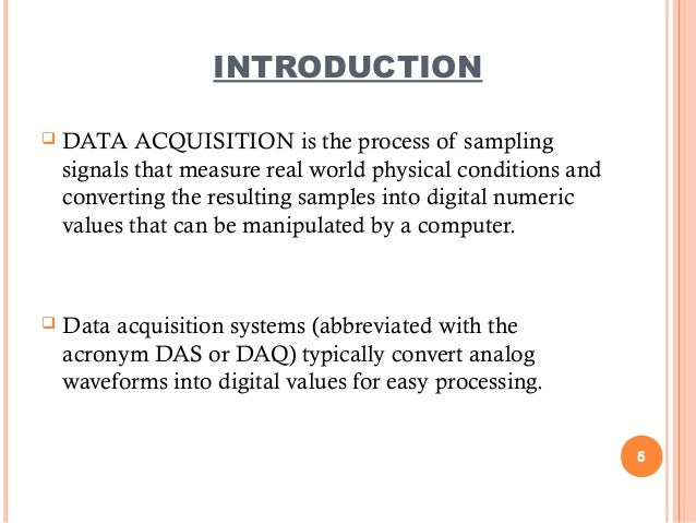 Ct Data Acquisition System : Data acquisition system das