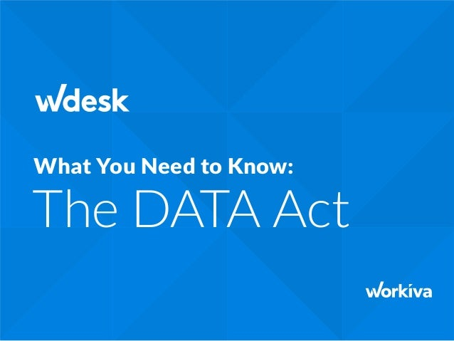 The DATA Act What You Need to Know: