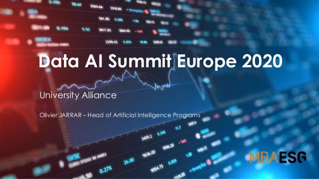 Data AI Summit Europe 2020 University Alliance Olivier JARRAR – Head of Artificial Intelligence Programs