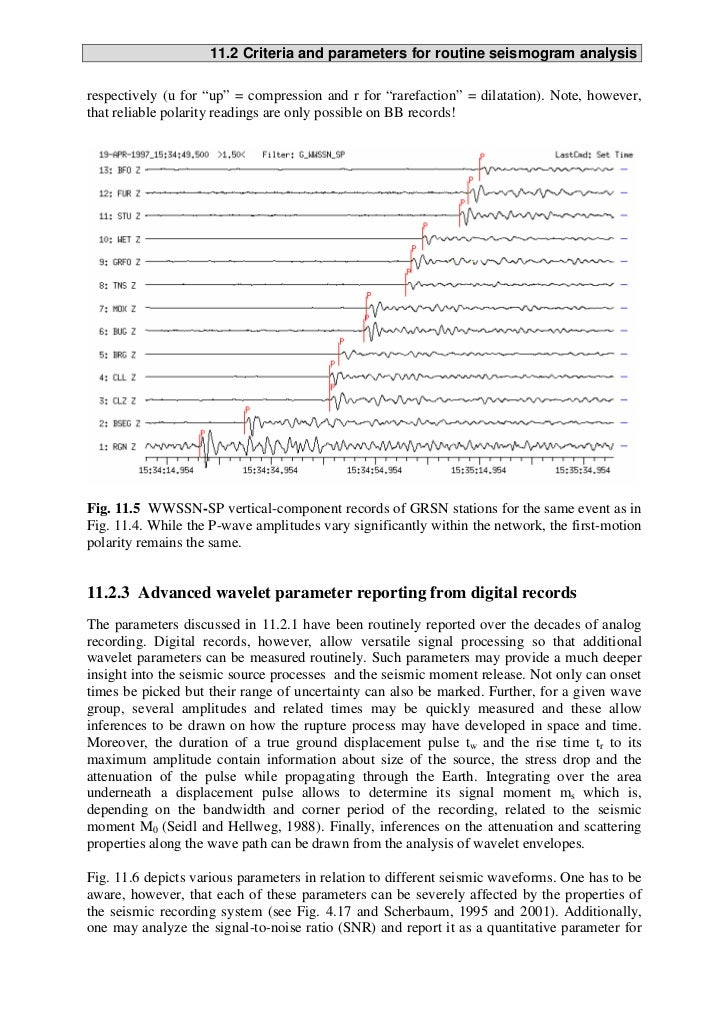 Interpreting seismograms