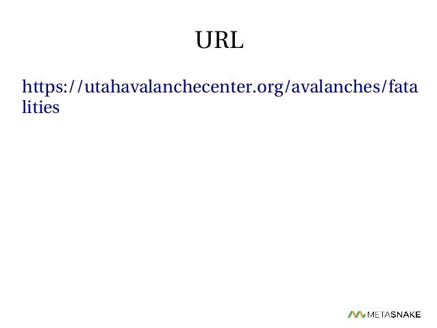 Analysis of Fatal Utah Avalanches with Python  From Scraping