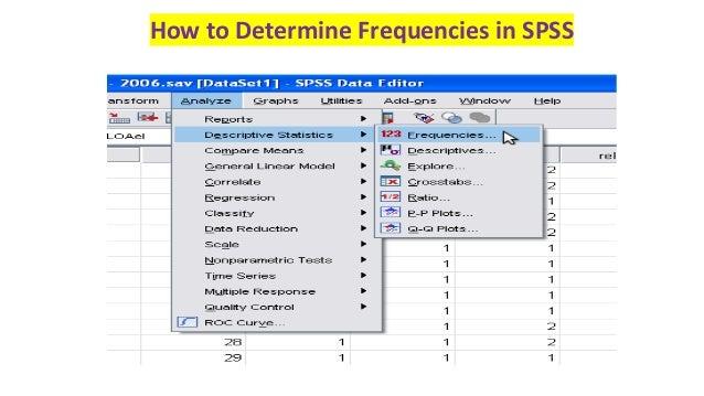 how to run descriptive statistics in spss