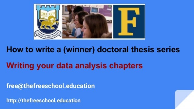 How to prepare the analysis chapter of a dissertation