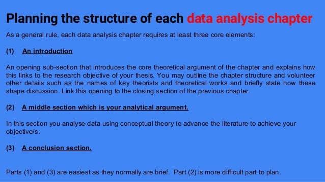 how to write data analysis section of dissertation