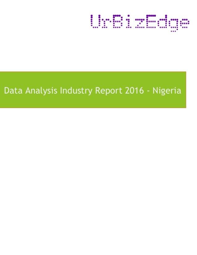 Data Analysis Industry Report 2016 - Nigeria