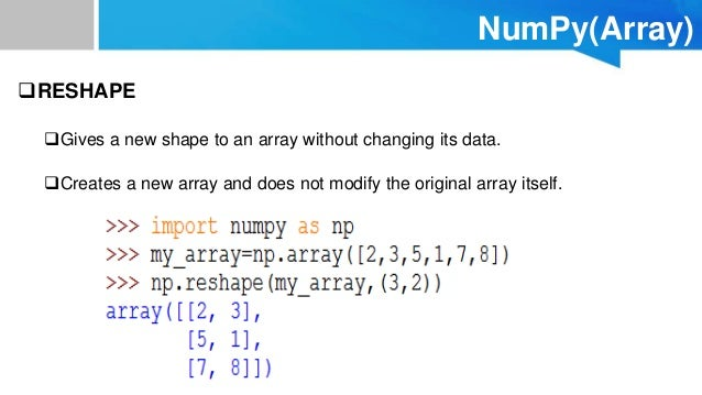 Data Analysis in Python-NumPy