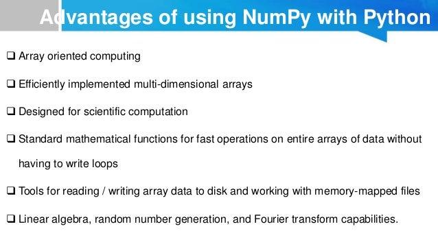 Data Analysis in Python-NumPy