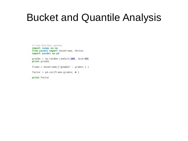 Data Analysis in Python