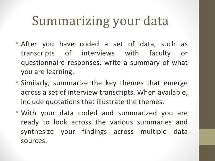 qualitative data analysis example