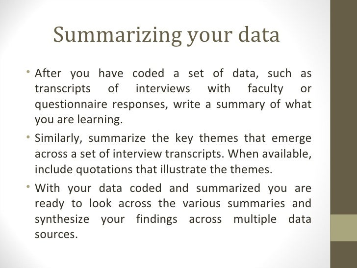 WRITING CHAPTER 4: ANALYSIS OF DATA (Qualitative)
