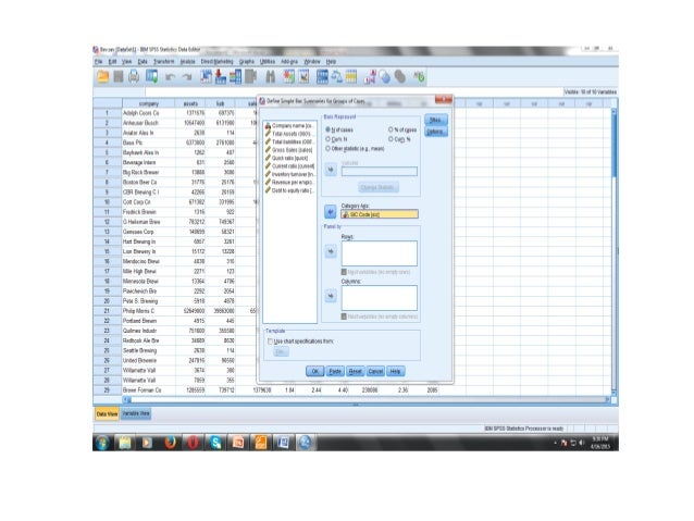 data analysis using spss A self-guided tour to help you find and analyze data using stata, r, excel and spss the goal is to provide basic learning tools for classes, research and/or professional development.