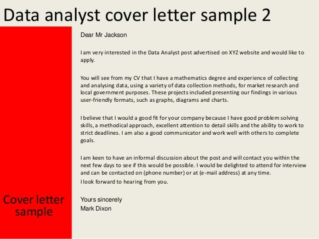 data collection cover letter Learn how to write good cover letter for data management in order to avail the job with less inconvenience remember one thing that it is your cover letter which is.