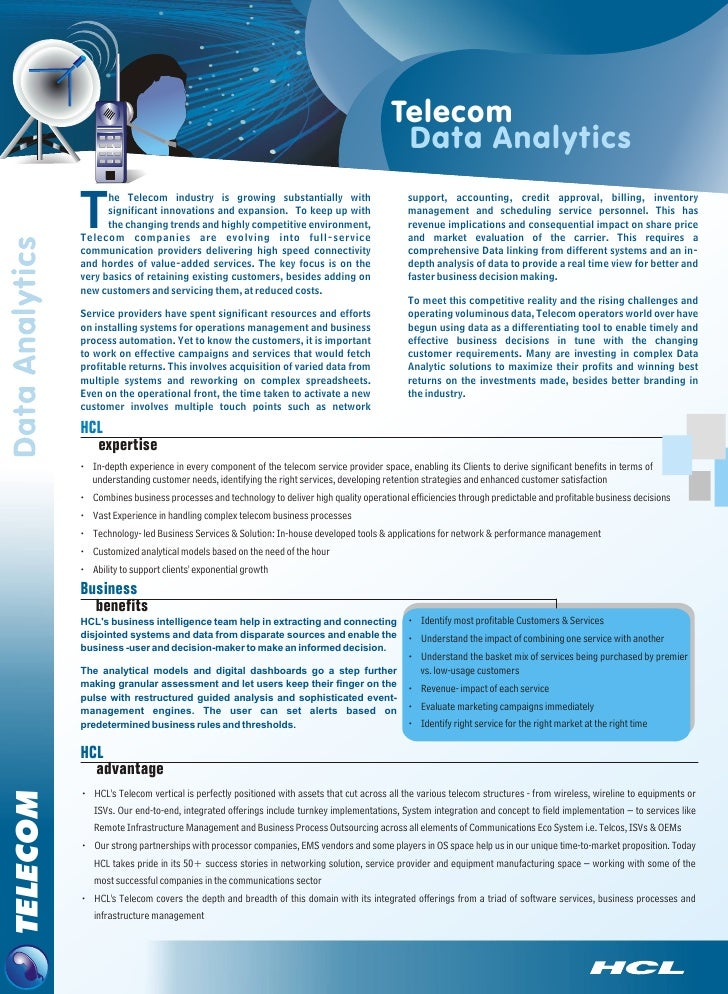 Telecom                                                                                       Data Analytics          T   ...