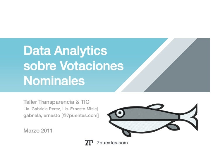 Data Analytics!sobre VotacionesNominales!Taller Transparencia & TIC !Lic. Gabriela Perez, Lic. Ernesto Mislej!gabriela, er...