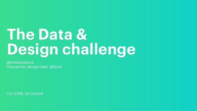 The Data & 