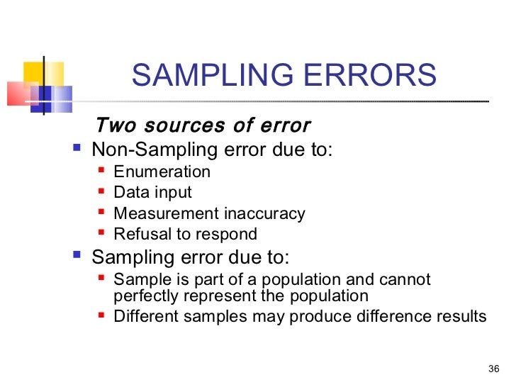 nonsampling or systematic errors Non-sampling error: non- sampling errors also known as systematic errors occur  due to the nature of the study's design and the correctness of.