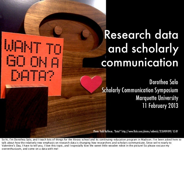 Research data                                                                                    and scholarly            ...