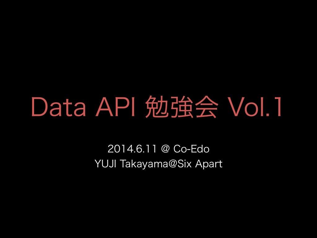 Data api workshop at Co-Edo