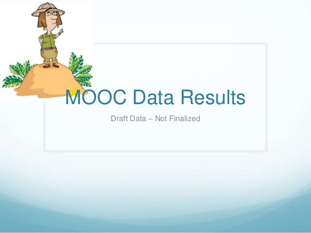 MOOC Data Results Draft Data – Not Finalized