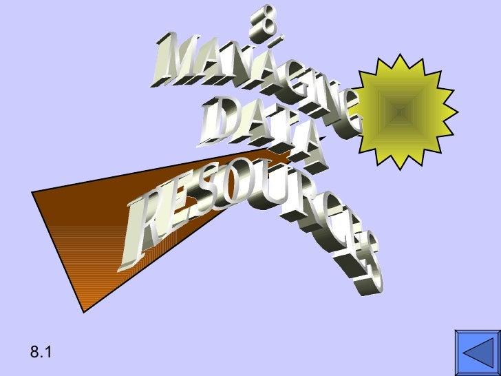 8.1 8. MANAGING  DATA RESOURCES