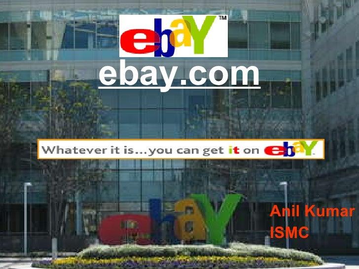 ebay.com Anil Kumar ISMC