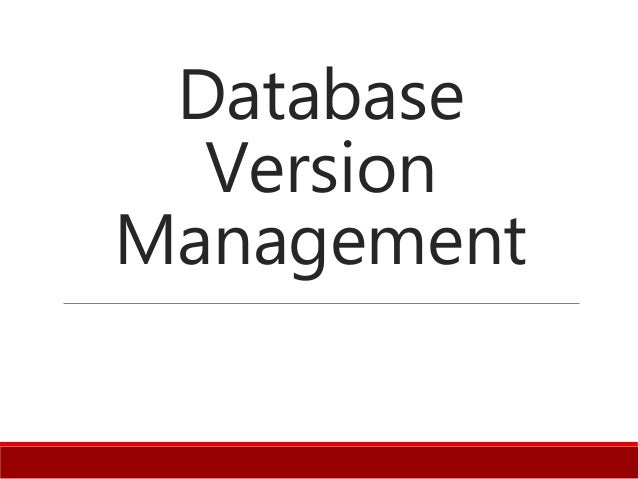 Database Version Management