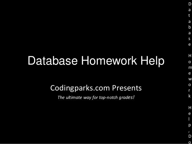 Database assignment help from database expert
