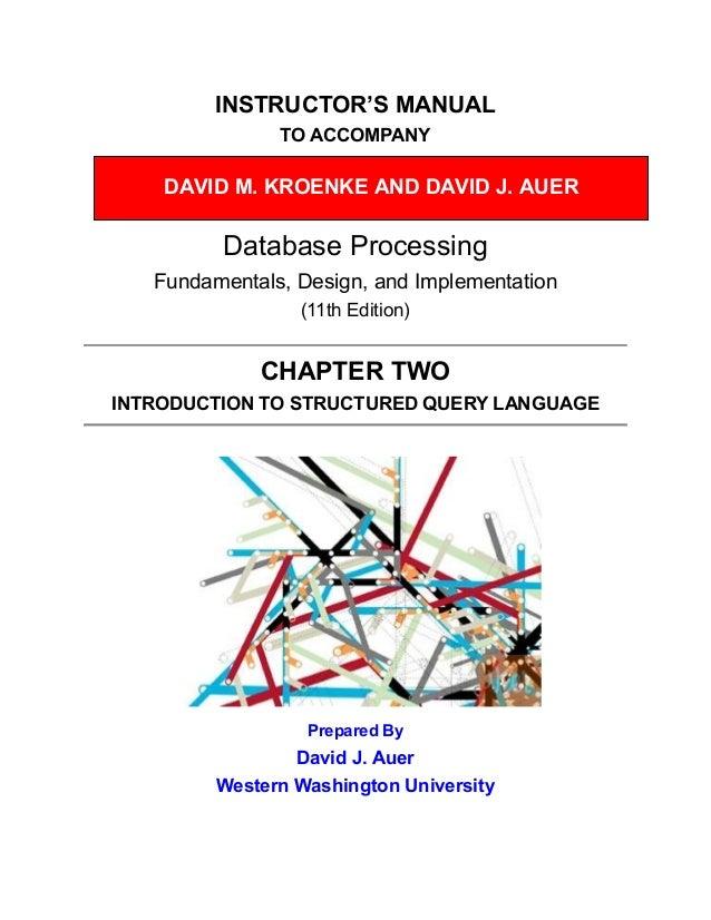 Database Processing 11th Edition Kroenke Solutions Manual