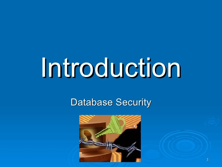 research paper on database security Murray iip-63 prehend the fundamental nature of database security issues this paper presents a set of sub-topics for inclusion in a database security component of a course.