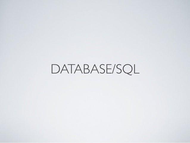 DATABASE/SQL