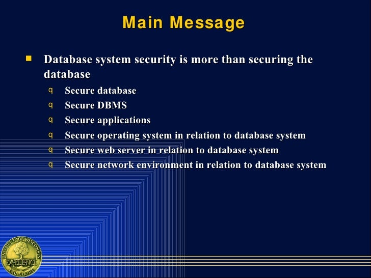 Database Systems Security