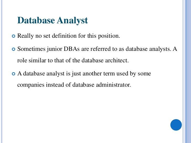 Database administrator – Database Administrator Job Description