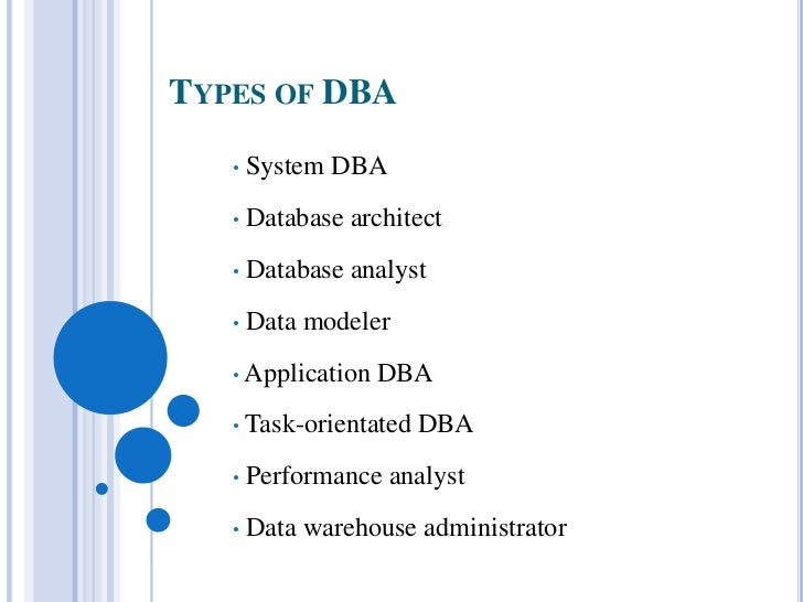 essay database administrator A database administrator (dba) is an it professional who ensures that the software used to manage a database is properly maintained to allow rapid access when needed.