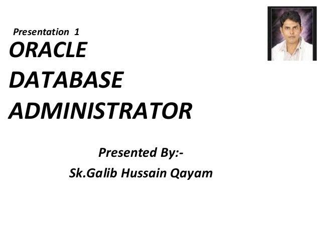 Database administrator project-presentation-1-v1