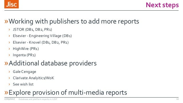 Next steps »Working with publishers to add more reports › JSTOR (DB1, DB2, PR1) › Elsevier - Engineering Village (DB1) › E...