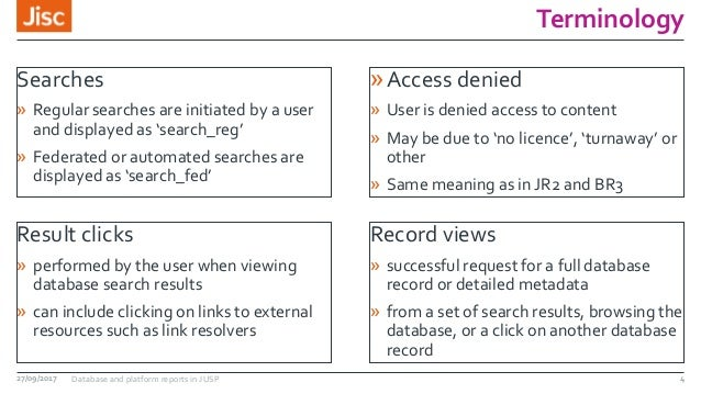 Terminology Searches » Regular searches are initiated by a user and displayed as 'search_reg' » Federated or automated sea...