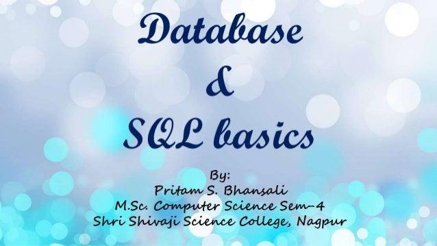 Database and SQL basics