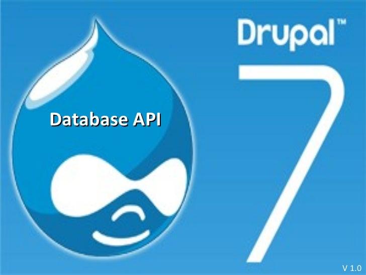 Database API V 1.0