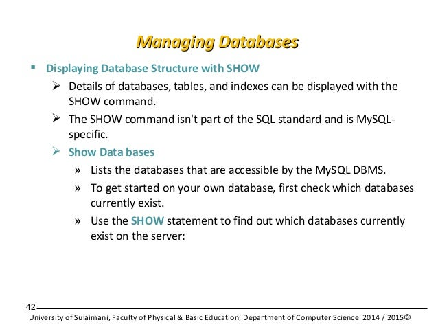 Database application with mysql - Mysql show table structure ...