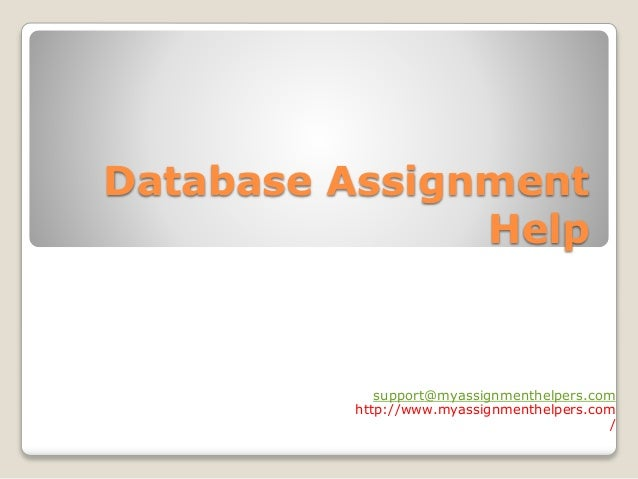 database assignment help database assignment help support myassignmenthelpers com myassignmenthelpers