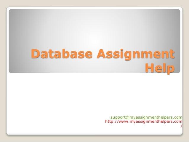 Database & Data processing