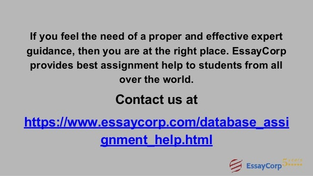 database assignment help 13
