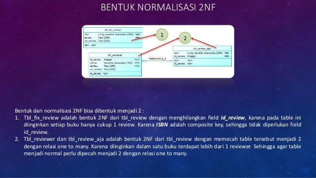 NORMALIZATION FORM 3 • Apakah tabel disamping telah mengikuti konsep normalisasi 3NF ? • Bila belum, bagaimana bentuk norm...