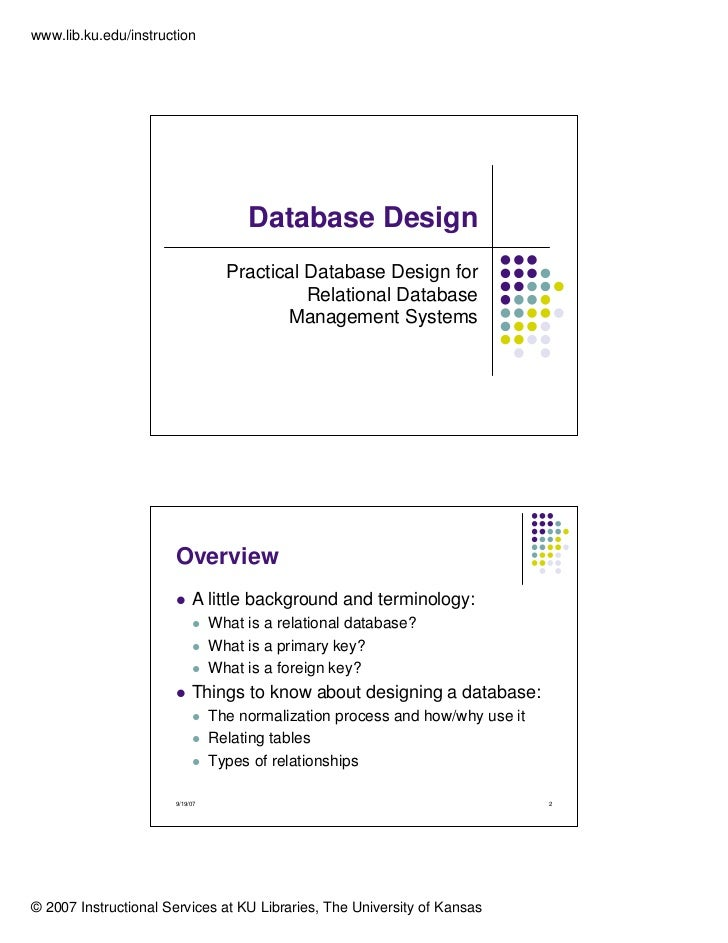 Database Design Normalization 1nf 2nf 3nf
