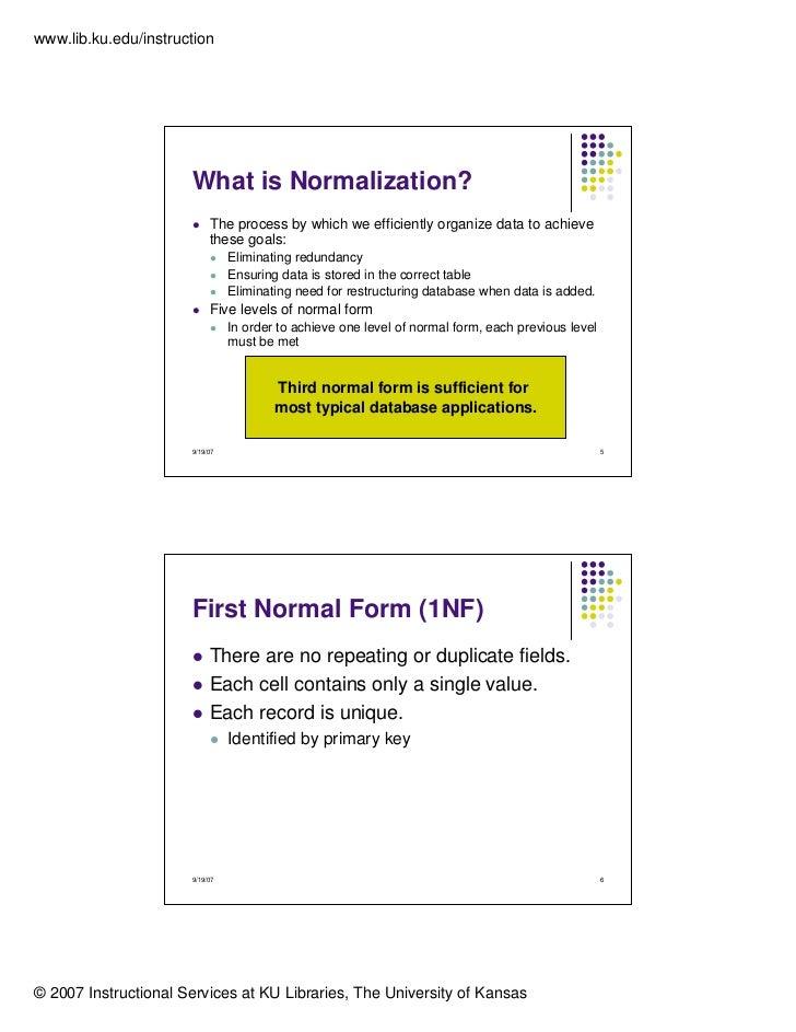 Normalisation essay