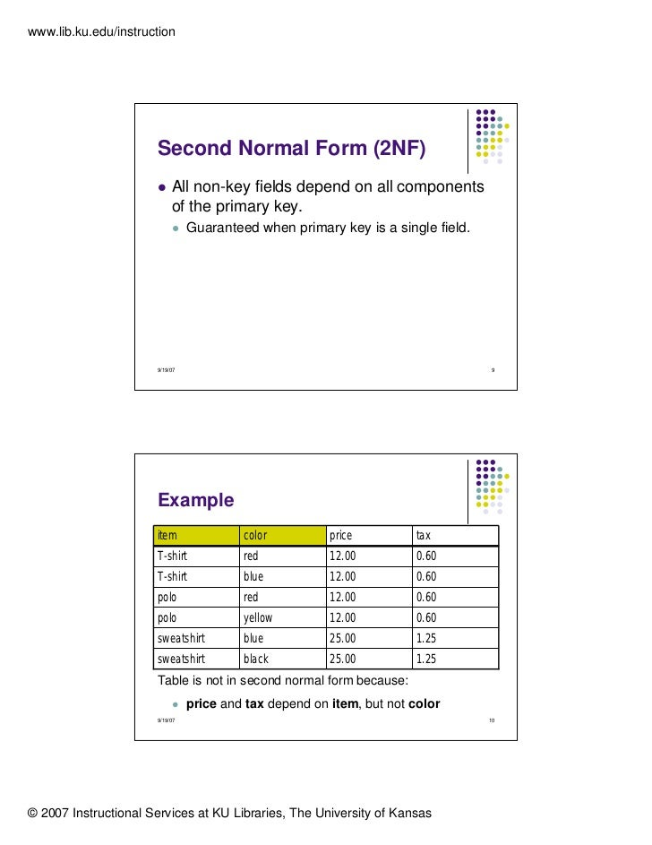 normalization in oracle with examples pdf
