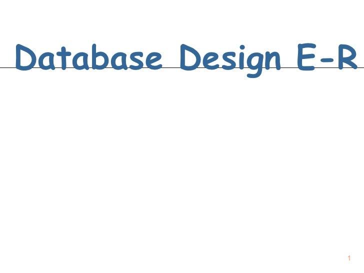 Database Design E-R