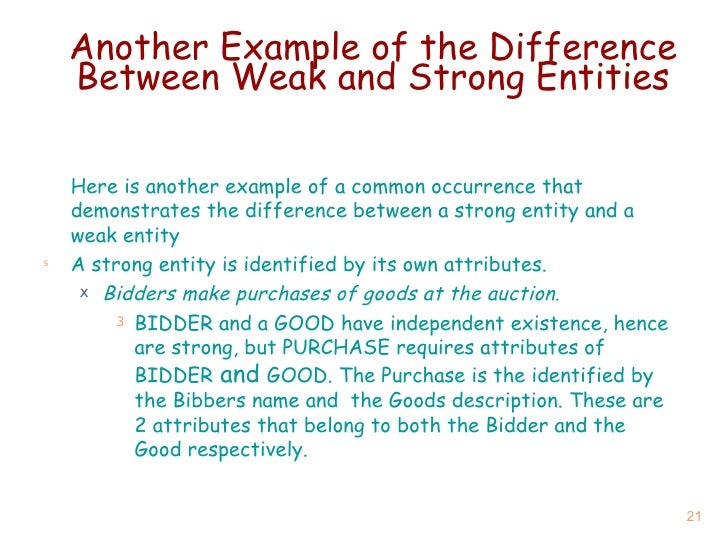 difference between weak entity and strong entity pdf